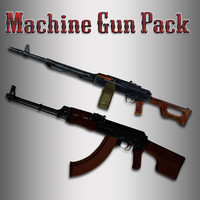Animated Machine Gun PACK with Hands