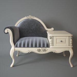 armchair telephone table milano 3d max