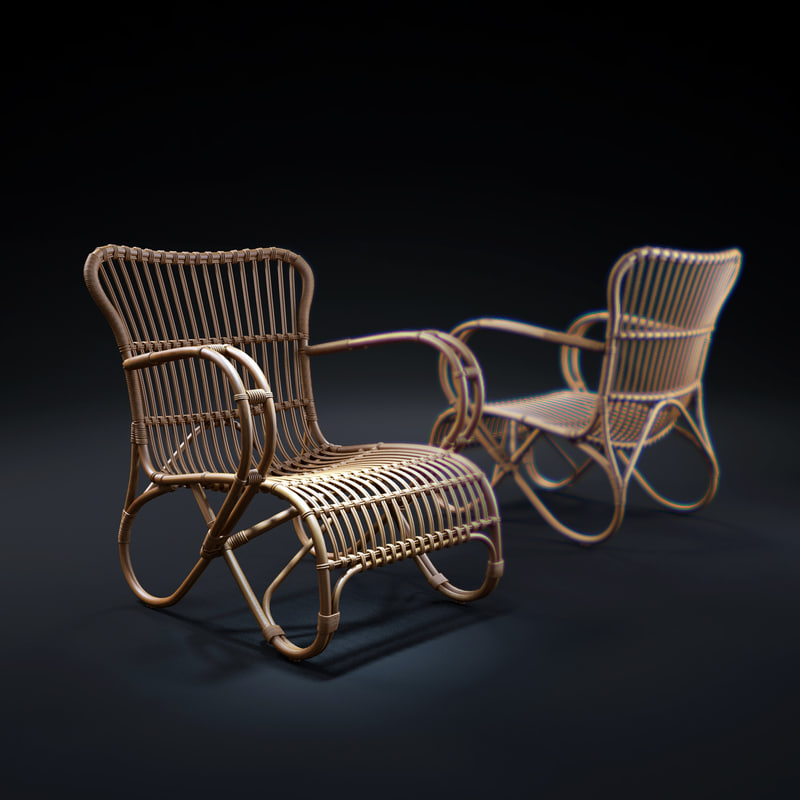 mozart-lounge-chair 3d model
