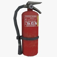 extinguisher ready games 3d model
