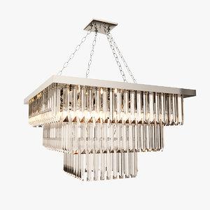 bella figura quadro chandelier 3d model