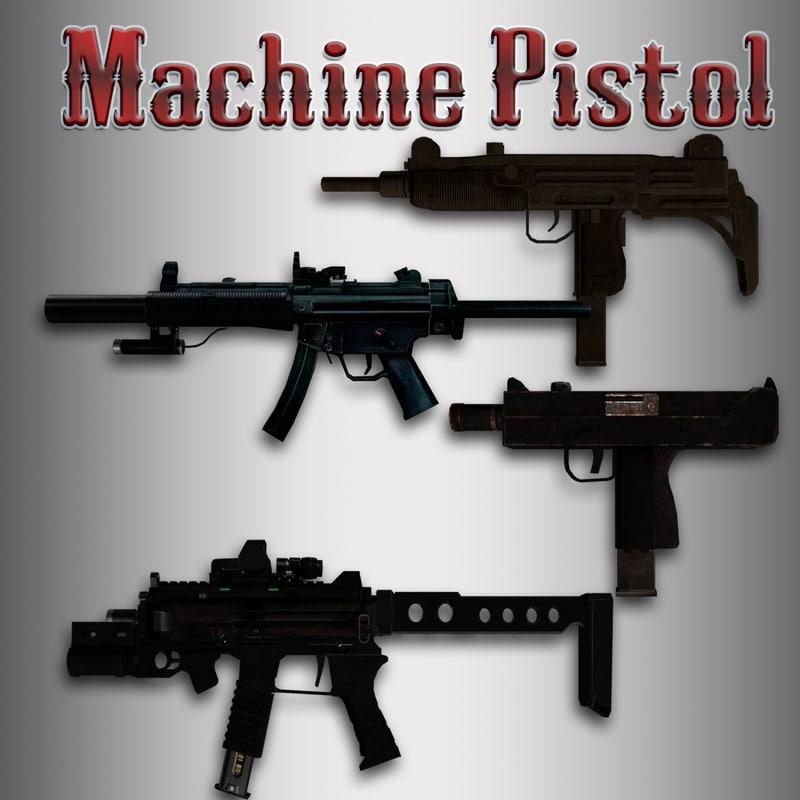machine pistol 3d x