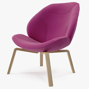 3d model softline pink eden chair