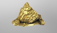 golden nugget 4k 3d model
