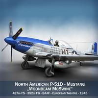 North American P-51D Mustang - Moonbeam McSwine