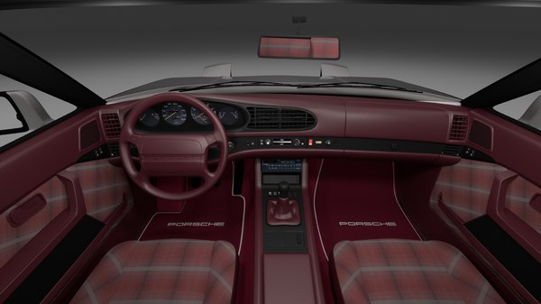 3d porsche 944 turbo s interior