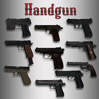 Animated Hand Gun Pack with Hands