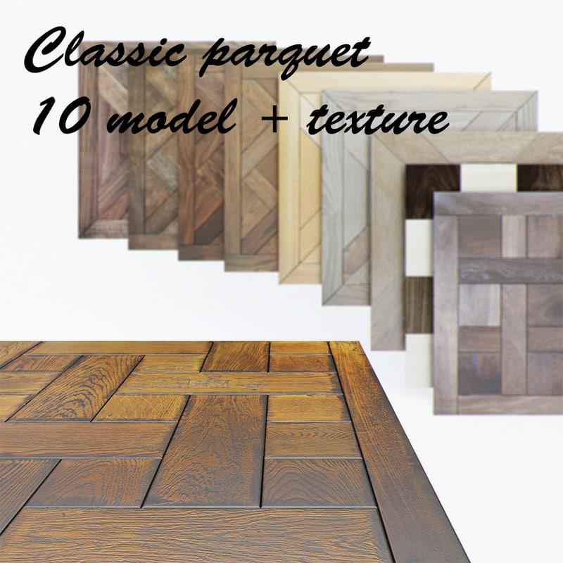 classic parquet 3d model