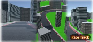 mobile race track 3d max
