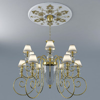 Chandelier with Rosette