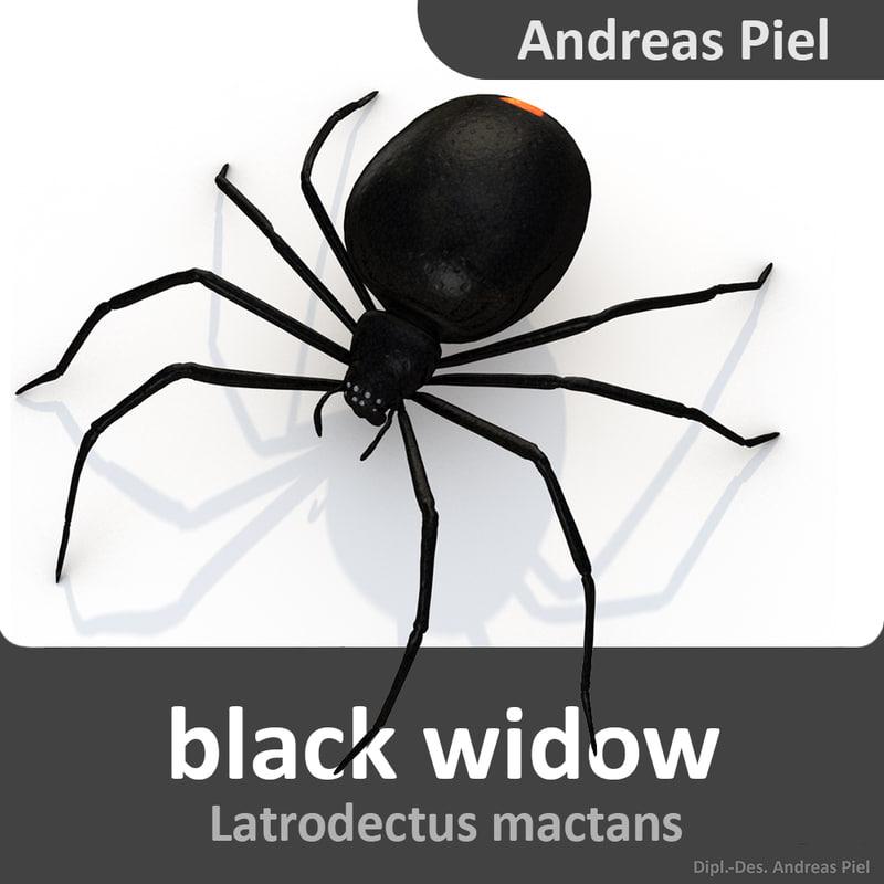 black widow 3d model
