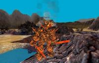 golems lava animation 3d obj