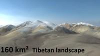 tibetan snowy mountain landscape 3d model