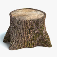 3d model old tree stump