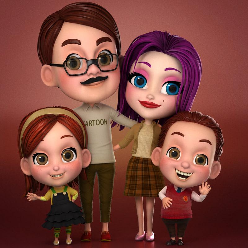 cartoon family max