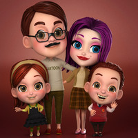 max cartoon family