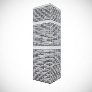 3d skyscraper glass