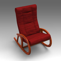 3d leather armchair chair