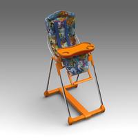 child chair 3d fbx