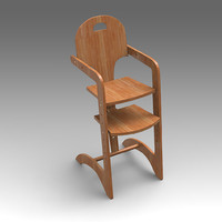 child chair 3d model