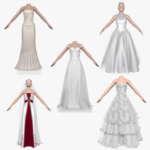 3d model wedding dress