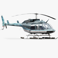 version helicopter bell 206l 3d max