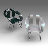plastic armchair 3d x