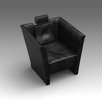 leather armchair fbx