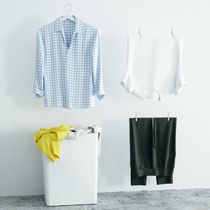 clothes washing 3d model