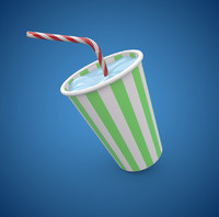 maya milkshake cup straw