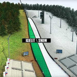 3d model ski jumping hill