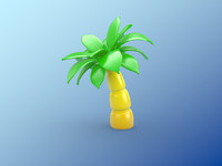 3ds inflatable palm tree