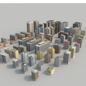 3d skyscrapers beirut buildings