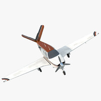 Civil Utility Aircraft Beechcraft Bonanza S35 V Tail 3 3D Model