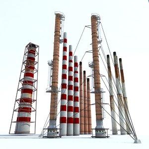 chimney modelled 3d model