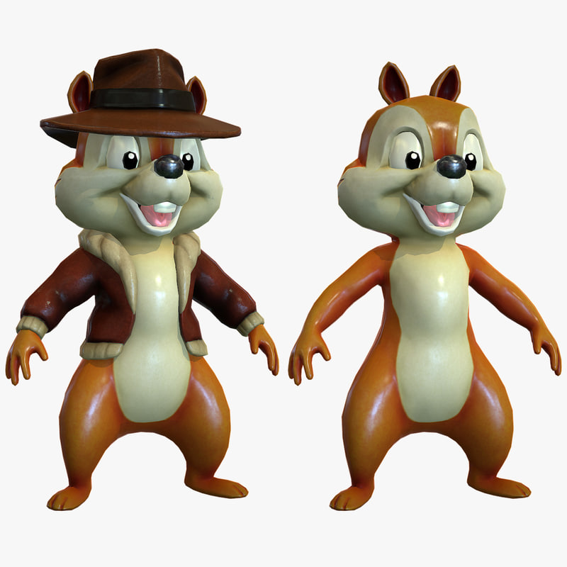3d cartoon chipmunk model