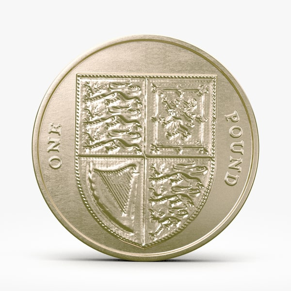 3d pound coin model