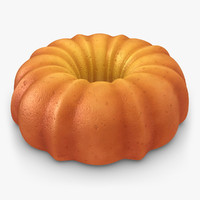 realistic pumpkin buttermilk cake 3d model