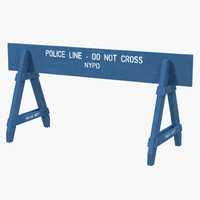 3d nypd police crowd barrier model