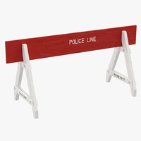 max police road wooden barrier