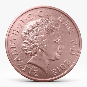 3d pence coin model