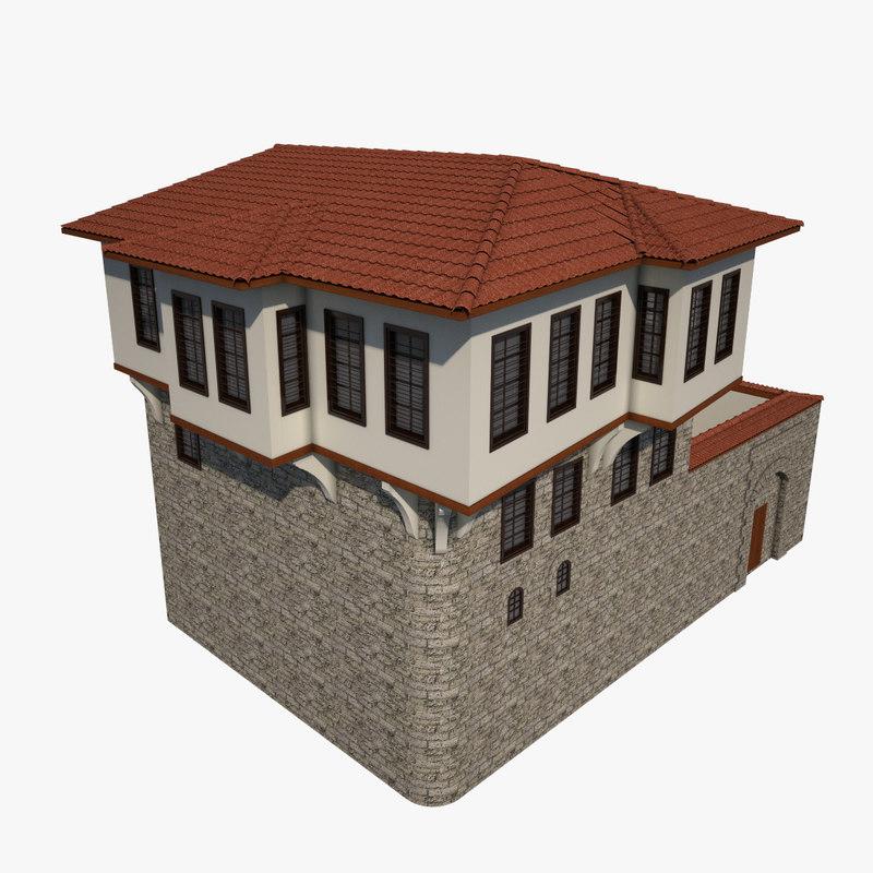 3d traditional ottoman house kahramanmaras