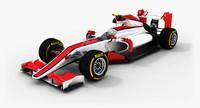 3d model haas f1 2015 concept