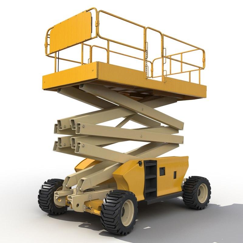 max engine powered scissor lift