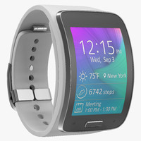 3d model samsung gear s white