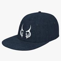 3d model baseball hat