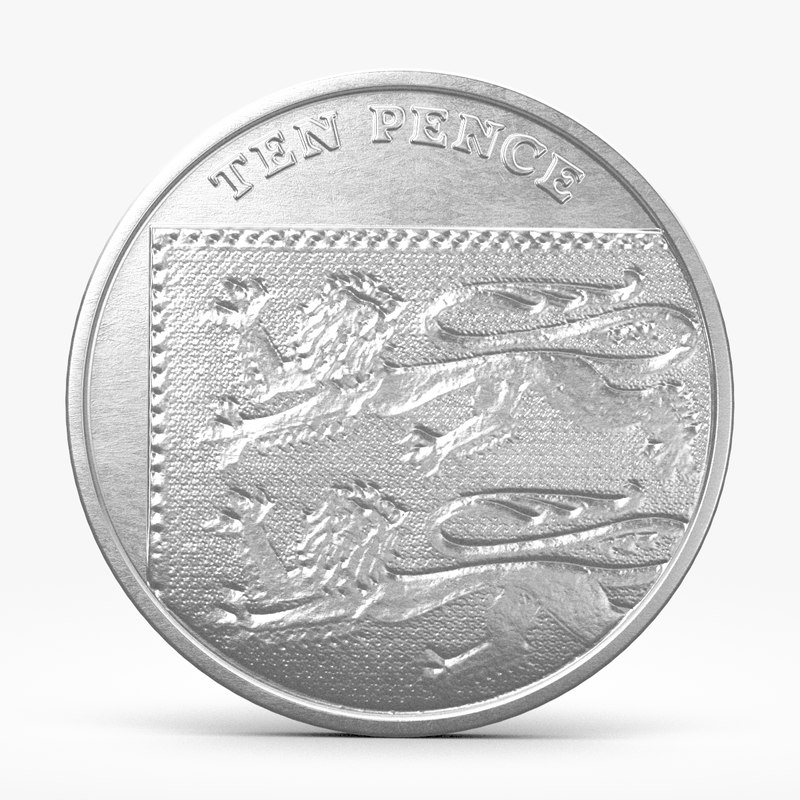 3d model pence coin