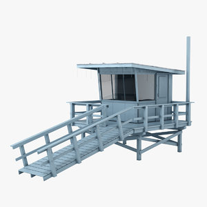 lifeguard station 3d model
