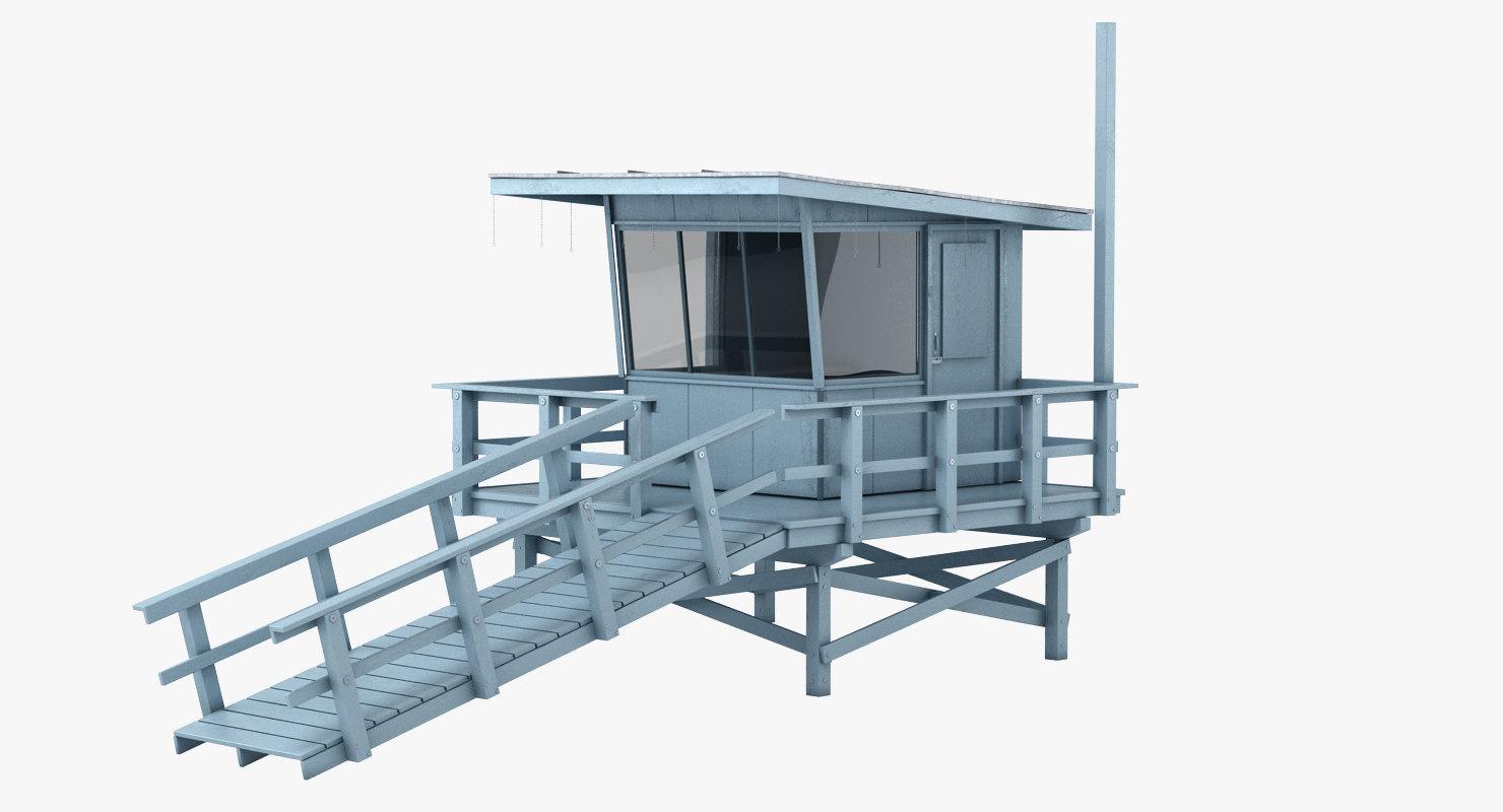 lifeguard station 3d model