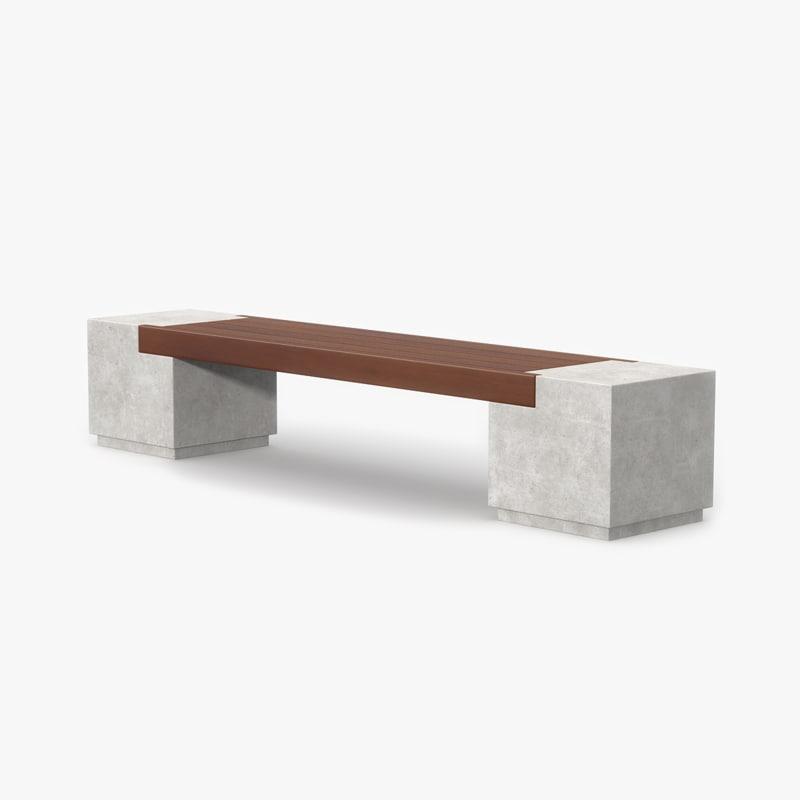max bench concrete wood